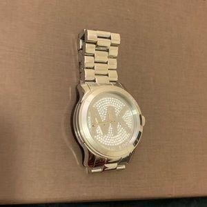 Gently worn Michael Kors Women's Runway Logo Watch